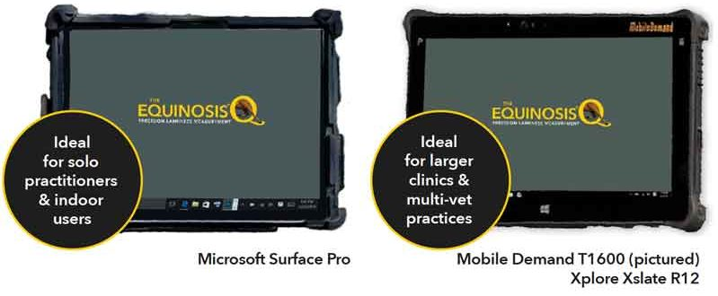 Equinosis Q with Lameness Locator Tablet Comparison - Microsoft Surface Pro vs. Mobile Demand