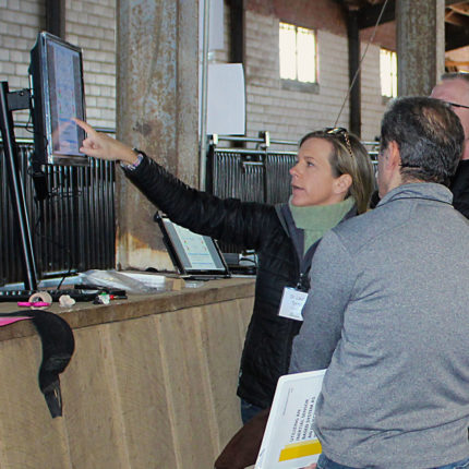 Director of Veterinary Services Dr. Laurie Tyrrell-Schroeder Teaching Veterinarians during Equinosis Objective Lameness Academy