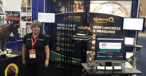 Objective Evaluation Expert Dr. Deborah Sieber Standing By Equinosis Q AAEP Booth