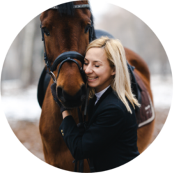 Horse Owner Hugging Horse on Find A Vet Page